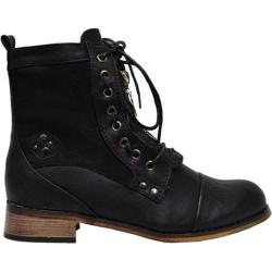 Women's Wild Diva Cowgirl-11 Black Faux Leather