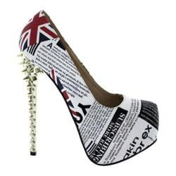 Women's Wild Diva England-4 White Faux Leather