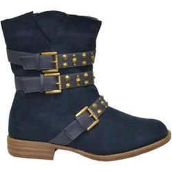 Women's Wild Diva Hero-3 Blue Faux Suede