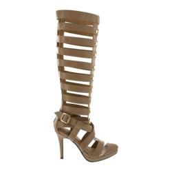 Women's Wild Diva Italy-20 Nude Faux Leather