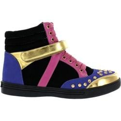 Women's Wild Diva Lucas-1 Black Faux Leather