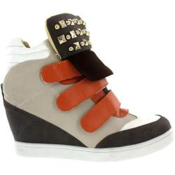 Women's Wild Diva Lucas-4 Brown/Orange Faux Leather