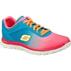 Women's Skechers Flex Appeal Style Icon Hot Pink/Blue