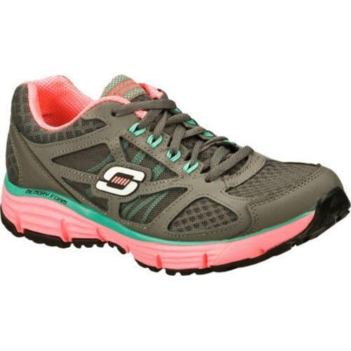 Women's Skechers Alignment Full Effect Charcoal/Hot Pink