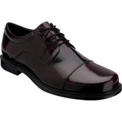 Men's Rockport Editorial Offices Cap Toe Burgundy Brush Off Leather