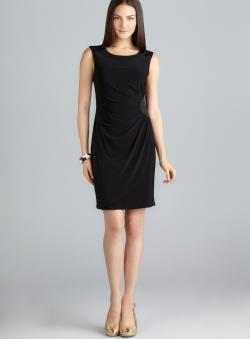 MSK Sleeveless Gathered Side Embellished Dress