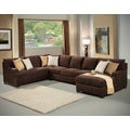 Furniture of America Zian 3-piece Modern Micro Denier Upholstery Sectional
