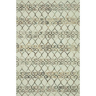 Hand-tufted Echo Ivory Wool Rug (5'0 x 7'6)