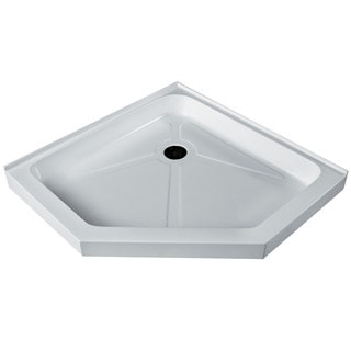 Vigo White Short/Low Profile Neo-Angle Shower Tray (36x36)