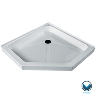 Vigo White Short/ Low Profile Neo-Angle Shower Tray (38x38)