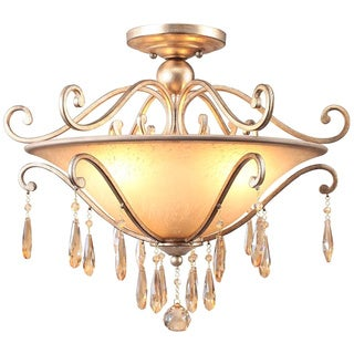 Shelby 3-light Destressed Twilight Semi-Flush Chandelier