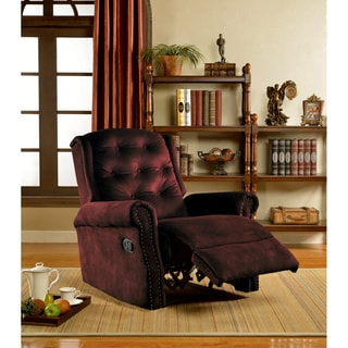 Dark Brown Microfiber Recliner