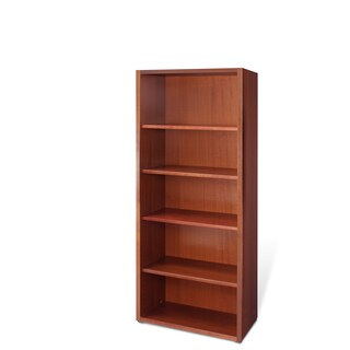 Cherry Veneer 30-inch Solid Wood Bookcase