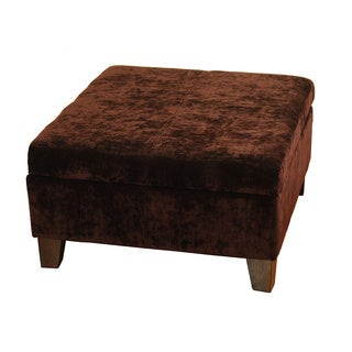 Dark Brown Oversized Cocktail Storage Ottoman