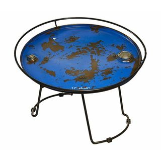 Recycled Oil Drum Round Table