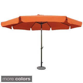 International Caravan St. Kitts Jumbo 11.5 Foot Diameter Patio Umbrella with Tilt, Crank, and Aluminum Frame