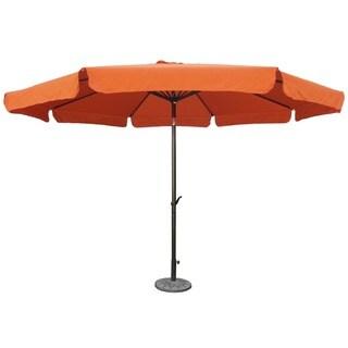 International Caravan St. Kitts 11.5 Foot Patio Umbrella with Tilt, Crank, and Aluminum Frame