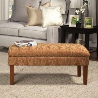 HomePop Golden Honey Blonde Storage Bench