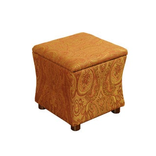 Golden Honey Blonde Cinch Storage Cube Ottoman
