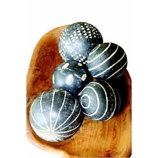 4-inch Grey Ceramic Balls (Set of 5)