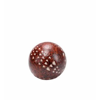 Lempung 4-inch Brown Ceramic Balls (Set of 5)