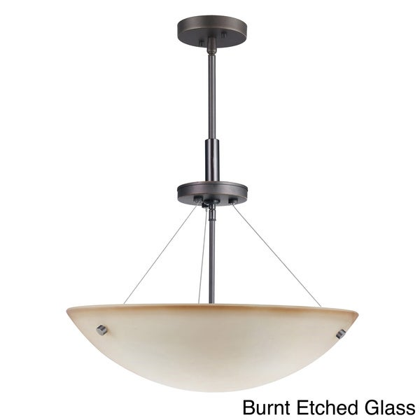 Metallic Bronze 3-light Dish Pendant