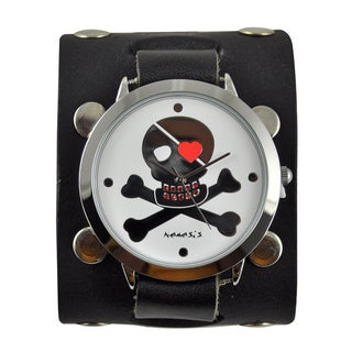 Nemesis Women's 'Love Skull' Leather Band Watch