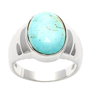 Silvermoon Sterling Silver Fox Turquoise Ring