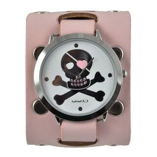 Nemesis Women's 'Love Skull' White Dial Watch