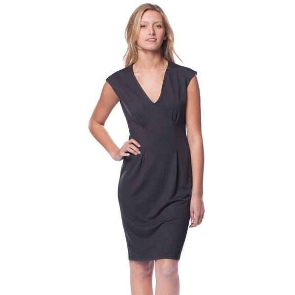 AtoZ Women's Iron Sleeveless V-neck Modal Dress