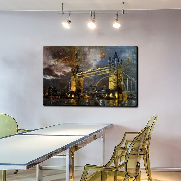 Alexis Bueno 'London Bridge' Canvas Wall Art