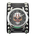 Nemesis Men's Skull Dial Studded Band Watch