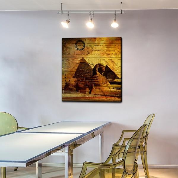 Alexis Bueno 'Egyptian Pyramid' Canvas Wall Art
