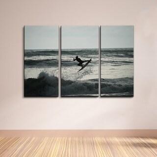 Nicola Lugo 'Carving' 3-piece Canvas Wall Art Set