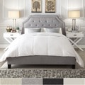 INSPIRE Q Grace Cream Linen Arched Bridge Top Bed