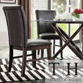 Maury Espresso PU Upholstered Side Chair (Set of 2)