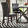 Tribecca Home Maury Espresso PU Upholstered Side Chair (Set of 2)