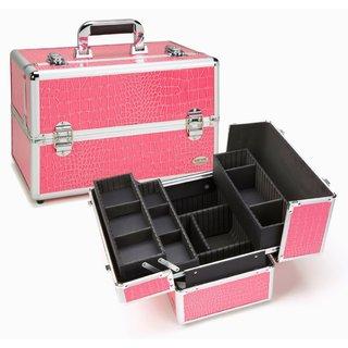 Seya Pink Crocodile Professional Makeup Case