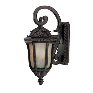 Wall-mount 2-light Outdoor Marbleized Mahogany Light Fixture