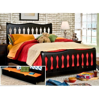 Black Jaxon Twin Size Bed and Trundle Storage