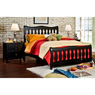 Black Jaxon Bed and 2-drawer Night Stand Set