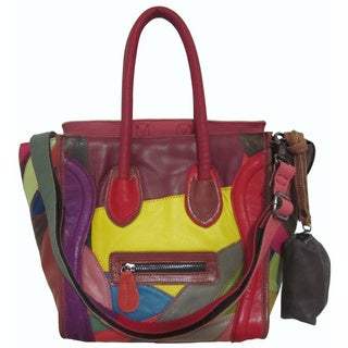 Amerileather Funny Face Leather Tote Bag