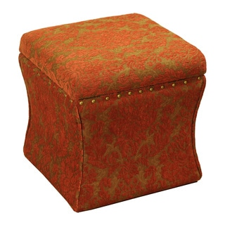 Cinch Red Chenille Storage Ottoman
