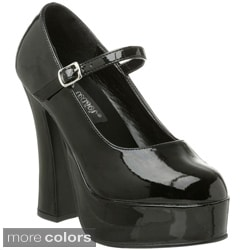 Pleaser Women's 'Dolly-50' Chunky Mary Jane Platform Pumps