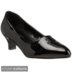 Pleaser Women's 'Fab-420W' Low Block Heel Pumps
