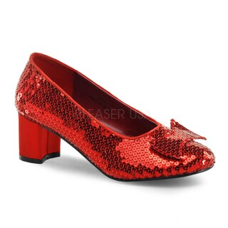 Funtasma Women's 'Dorothy-01' Red Sequined Low-heel Shoes