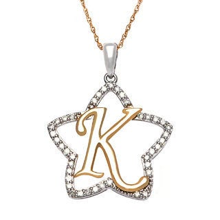 D'sire 14k Gold 1/3ct TDW Diamond Initial 'K' Necklace (H-I, SI1-SI2)