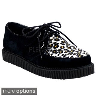 Demonia Men's 'Creeper-600' Animal Print Creeper Shoes