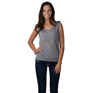 Journee Collection Women's Sleeveless Studded Hi-lo Tee