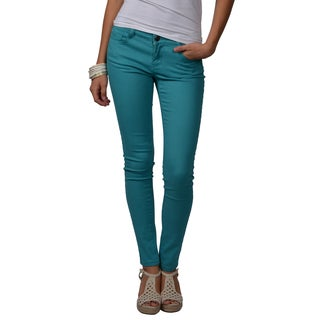 Journee Collection Juniors Mid-rise Stretchy Skinny Pants